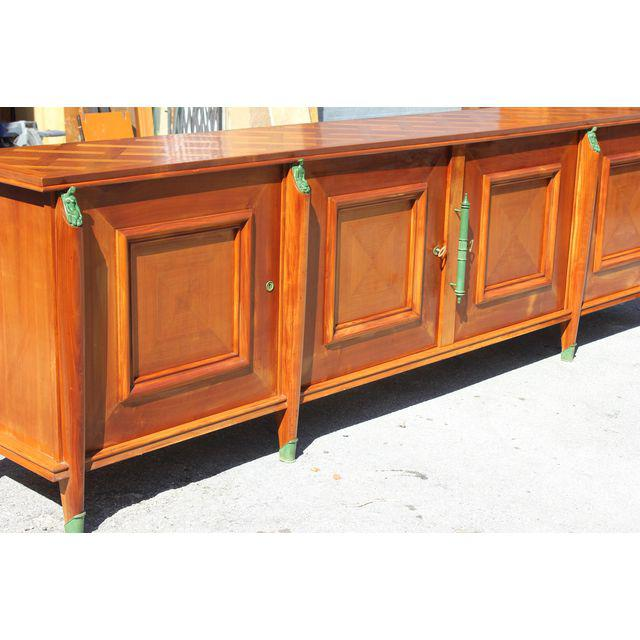 Master Piece French Art Deco Sideboard / Buffet Cherry-wood by Leon ...