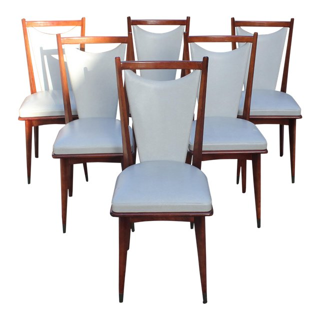 Art deco modern furniture Dining Room Prev French Art Deco Furniture Set Of French Art Deco Or Art Modern Solid Mahogany Dining Chairs