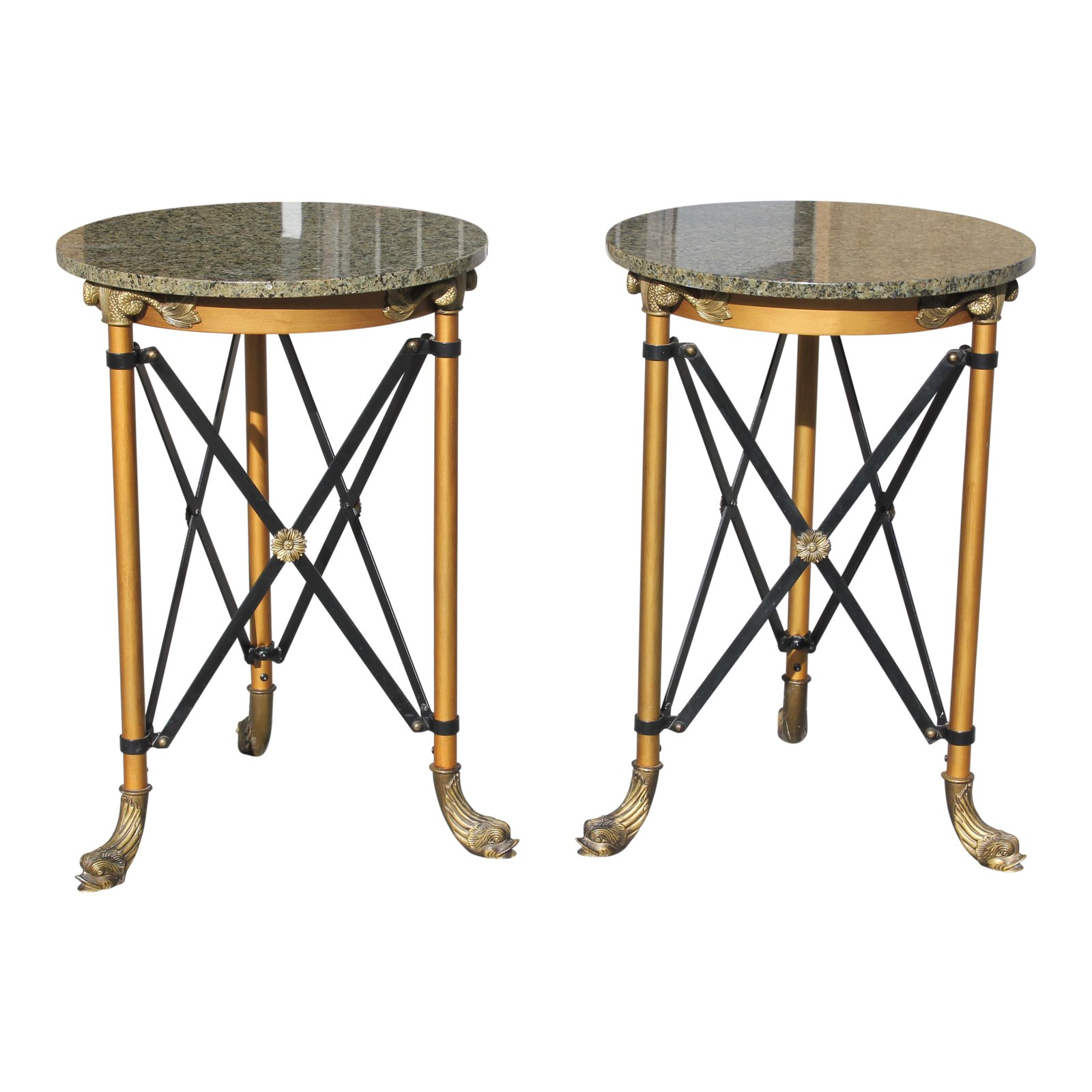 - Fine Pair Of French Neoclassical Style Bronze Side Table Or Accent